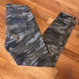 Denim - Express camo stretch ankle jean legging